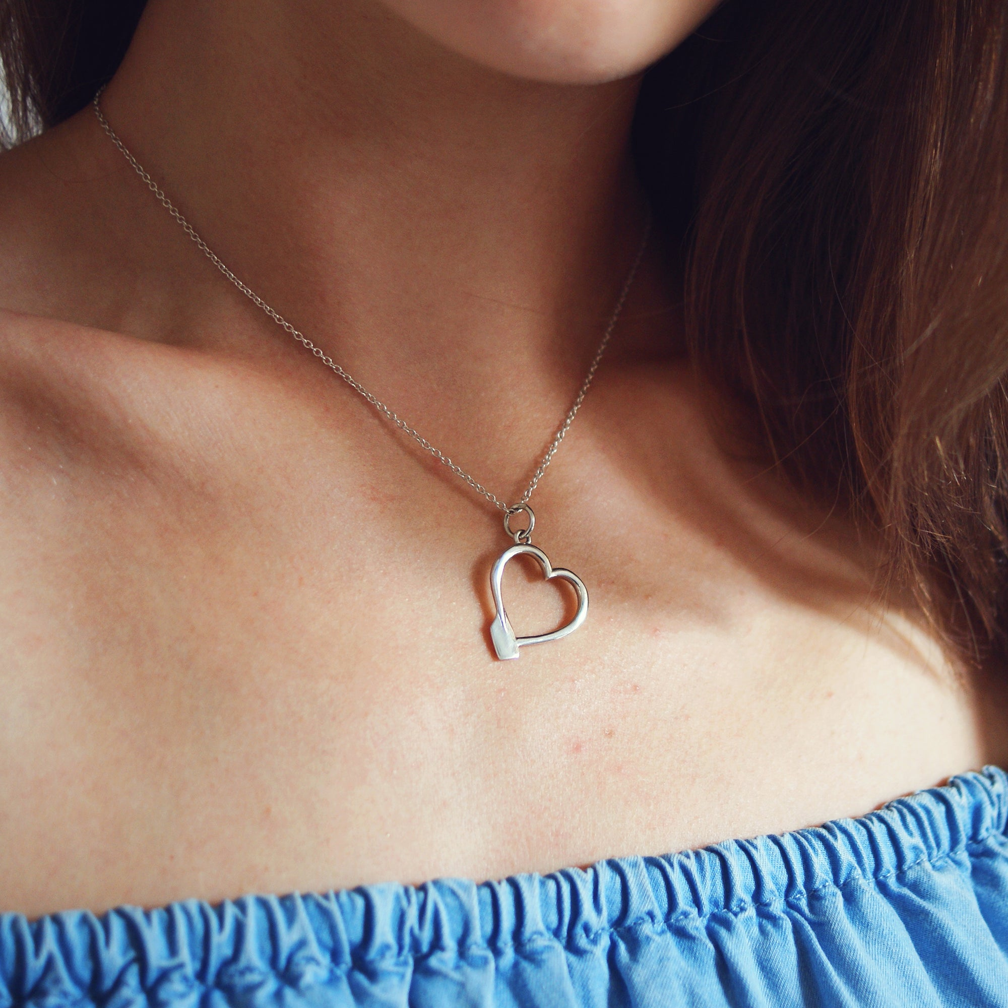 Rowing Heart Pendant and Earrings