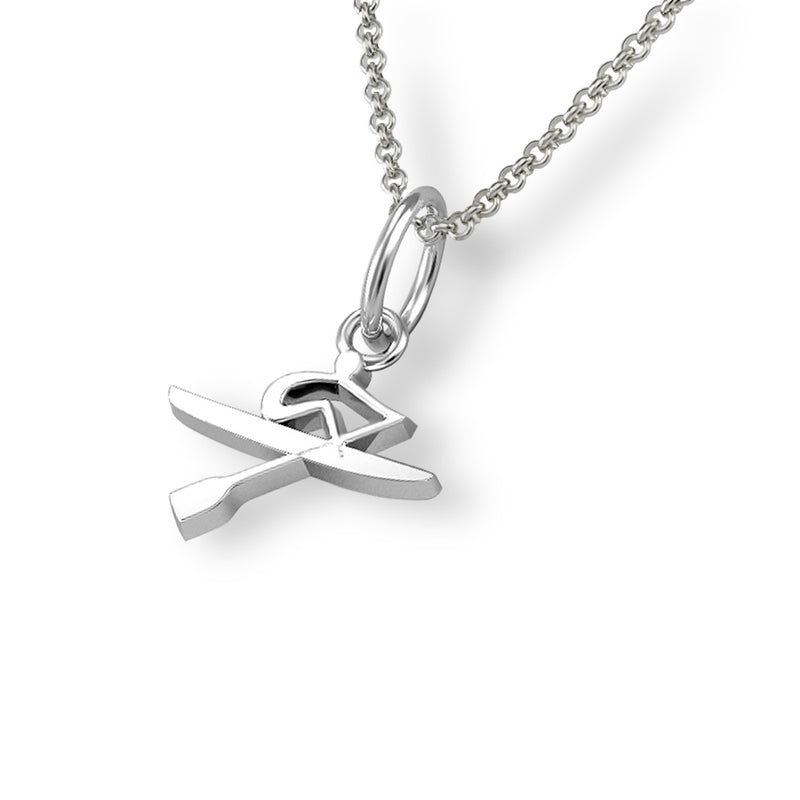 Rowing Oarsman Pendant - Strokeside Designs Rowing jewelry- Rowing Gifts Ideas- Rowing Coach Gifts