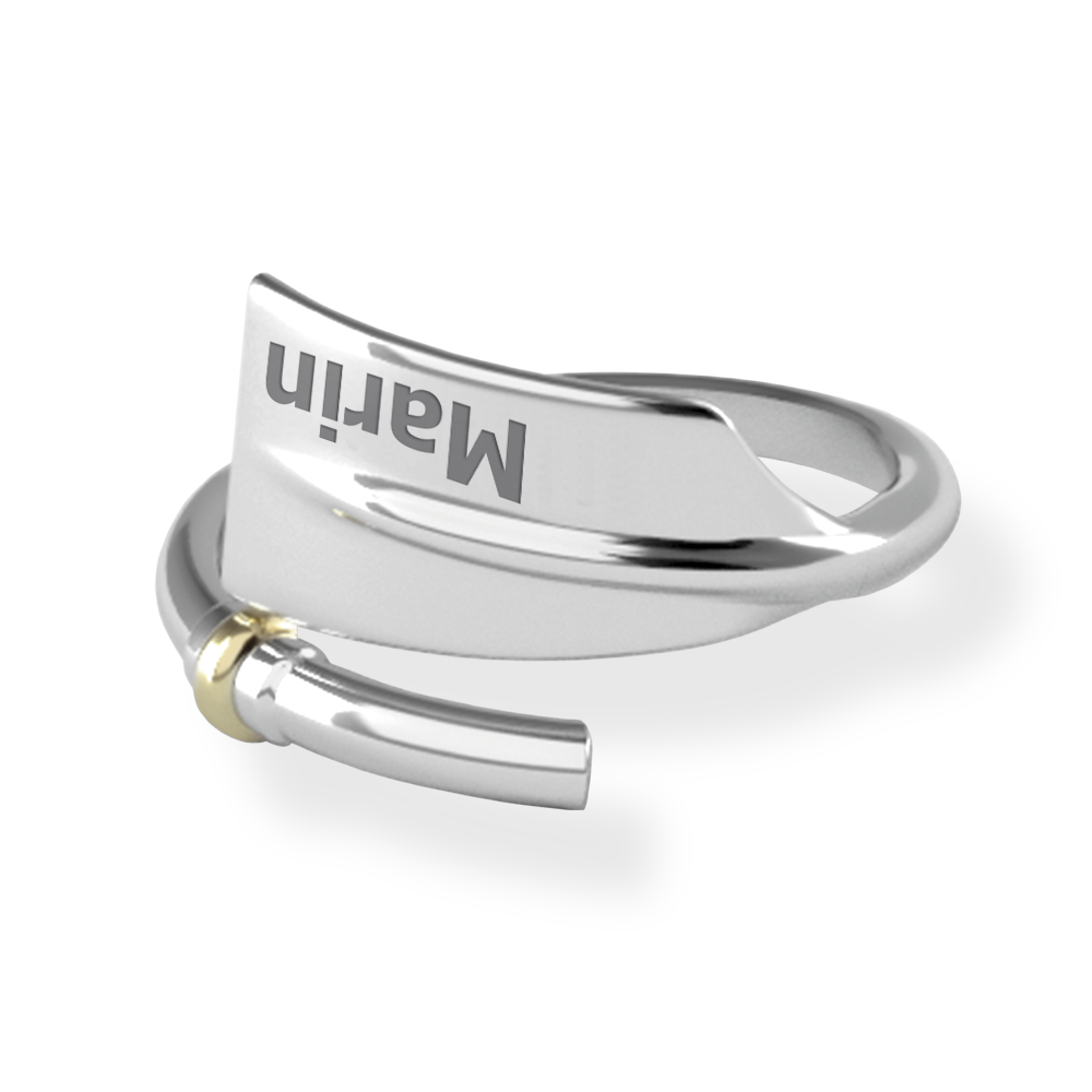 MARIN Oar Ring - Strokeside Designs Rowing jewelry- Rowing Gifts Ideas- Rowing Coach Gifts