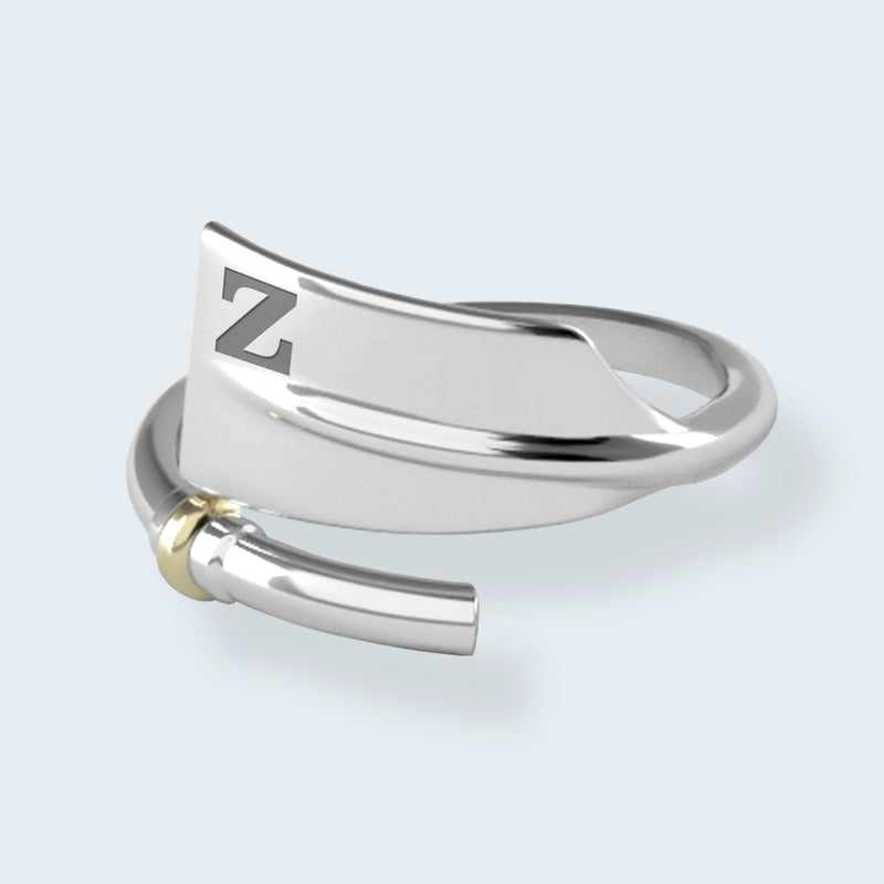 ZLAC Oar Ring - Strokeside Designs Rowing jewelry- Rowing Gifts Ideas- Rowing Coach Gifts