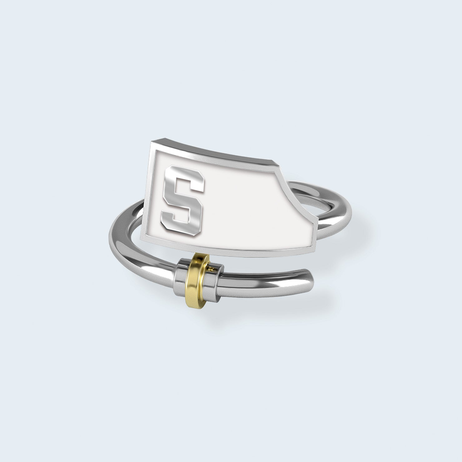 Sarasota Crew Ring - Strokeside Designs Rowing jewelry- Rowing Gifts Ideas- Rowing Coach Gifts