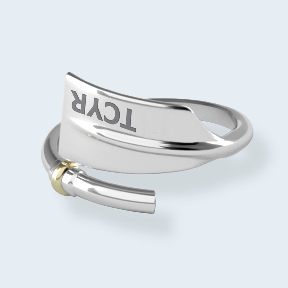 TCYR Oar Ring - Strokeside Designs Rowing jewelry- Rowing Gifts Ideas- Rowing Coach Gifts