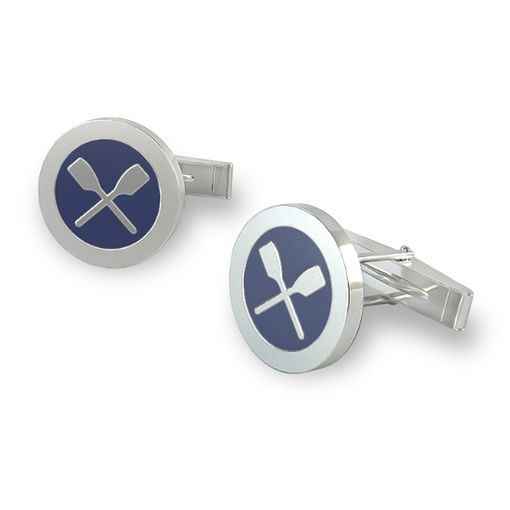 Rolo Rowing CuffLinks - Strokeside Designs Rowing jewelry- Rowing Gifts Ideas- Rowing Coach Gifts