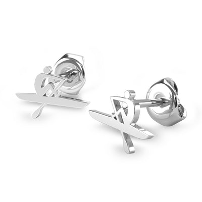 Rowing Oarsman Stud Earrings - Strokeside Designs Rowing jewelry- Rowing Gifts Ideas- Rowing Coach Gifts