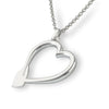 Rowing Heart Pendant - Strokeside Designs Rowing jewelry- Rowing Gifts Ideas- Rowing Coach Gifts