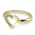 14k Gold Heart Shaped Diamond Rowing Ring - Strokeside Designs Rowing jewelry- Rowing Gifts Ideas- Rowing Coach Gifts