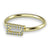 14k Gold Diamond Rowing Oar Ring - Strokeside Designs Rowing jewelry- Rowing Gifts Ideas- Rowing Coach Gifts
