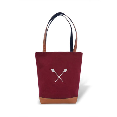 Tote Bag - Crossed Oars - Strokeside Designs Rowing jewelry- Rowing Gifts Ideas- Rowing Coach Gifts