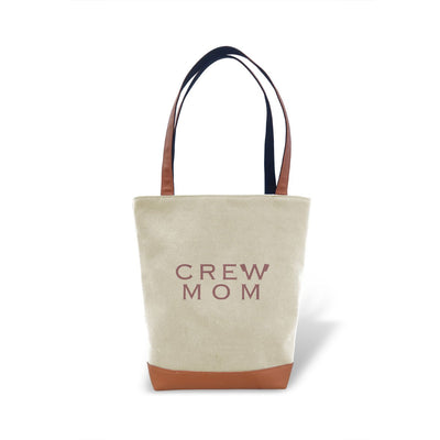 Tote Bag - Rowing Crew Mom - Strokeside Designs Rowing jewelry- Rowing Gifts Ideas- Rowing Coach Gifts