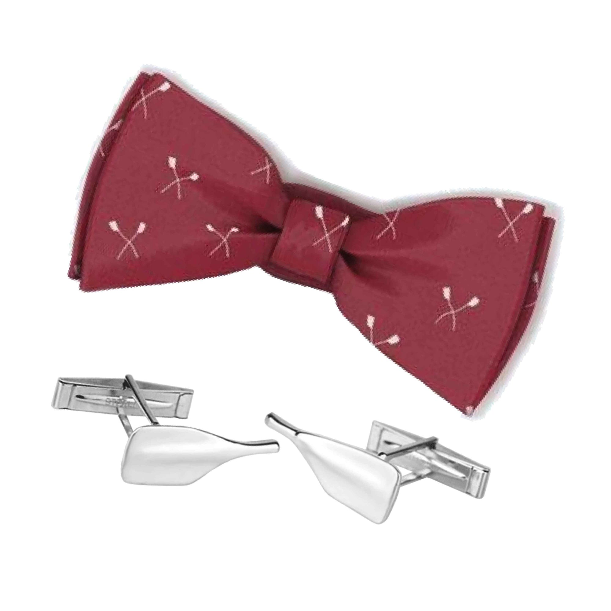 Rowing Bowtie and Cleaver Cuff Links