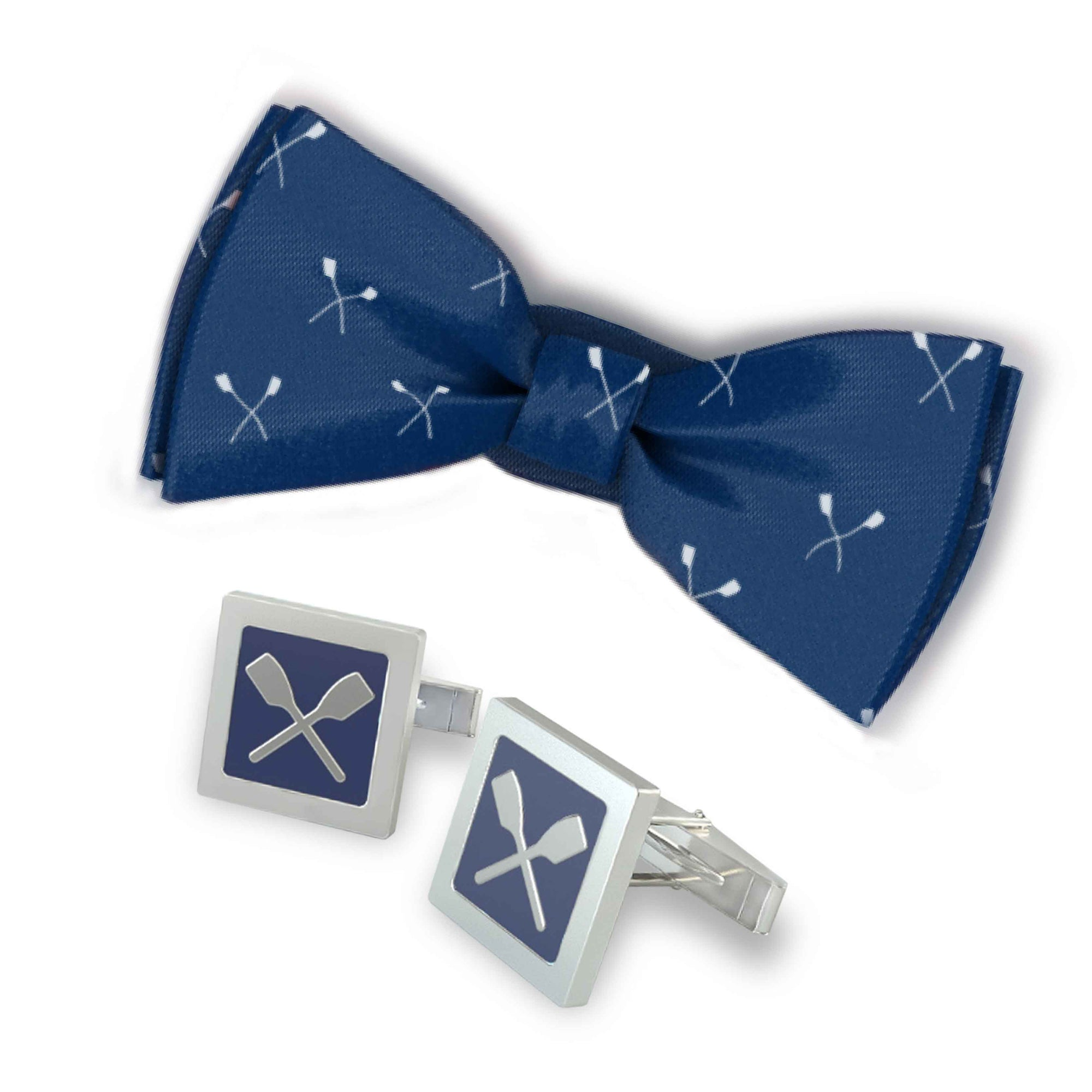 Rowing Bowtie and Quadrato Cuff Links