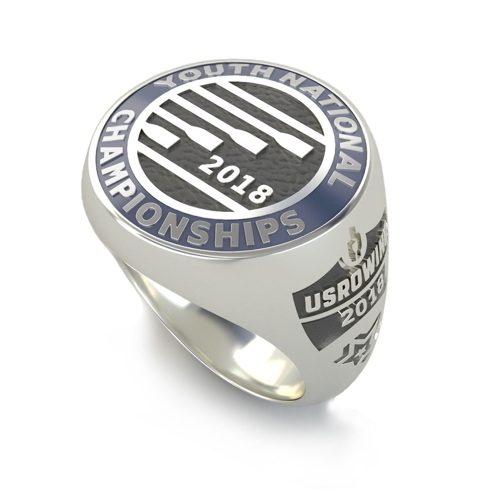 USRowing Youth National Championships Ring - Strokeside Designs Rowing jewelry- Rowing Gifts Ideas- Rowing Coach Gifts
