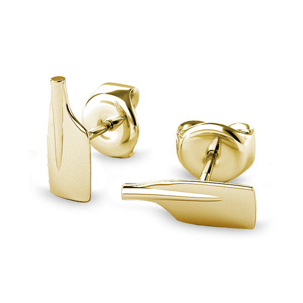 14K Rowing Cleaver Oar Stud Earrings