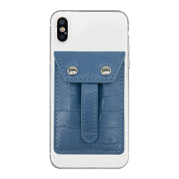 Wholesale - Wallet Phone Grip - BLUE SKY CROC
