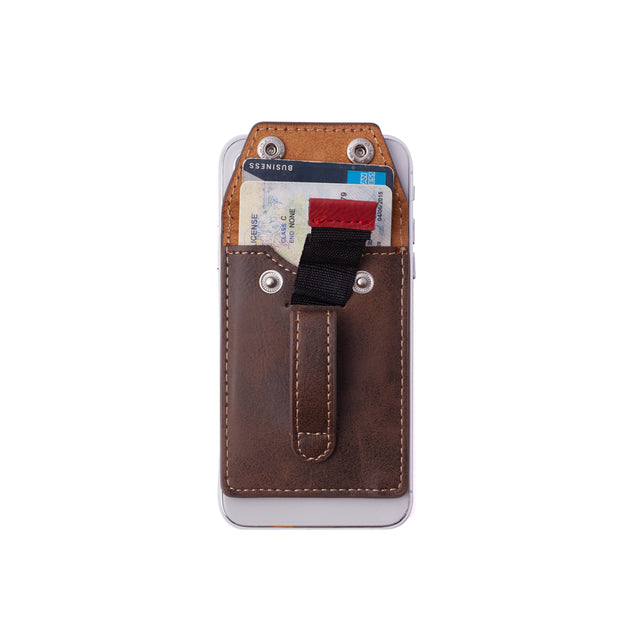 Wholesale - Wallet Phone Grip - SADDLE BROWN
