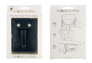Wallet Phone Grip - RETRO BLACK