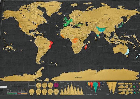 Deluxe Scratch off Travel Map
