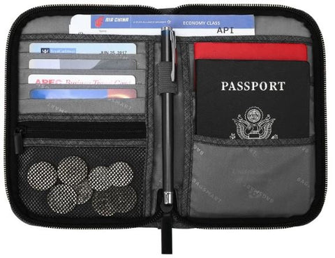RFID Blocker Passport Organizer