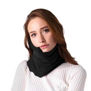 Comfortable Scarf Neck Travel Pillow Black
