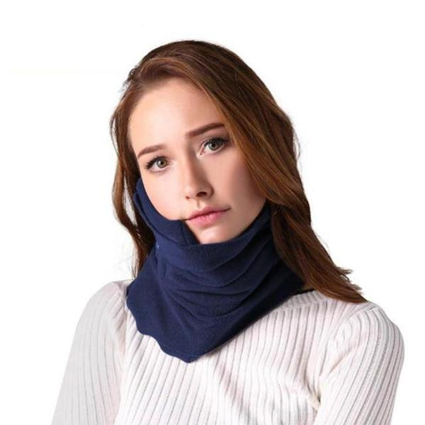 Comfortable Scarf Neck Travel Pillow Blue