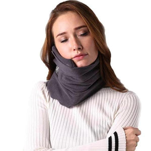 Comfortable Scarf Neck Travel Pillow Gray