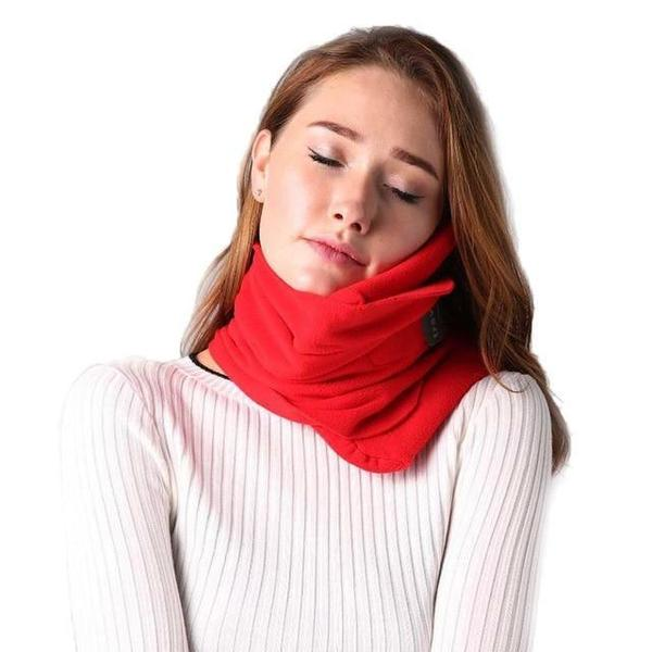 Comfortable  Scarf Neck Travel Pillow Red