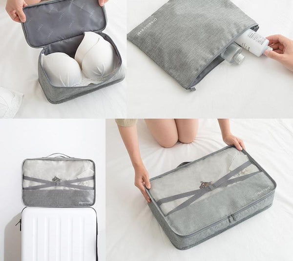 Packing Cube Luggage Travel Organizer Cosmetics Underwear