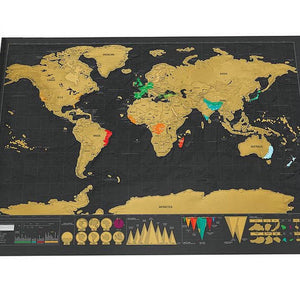 Deluxe Personalized Scratch Off World Map