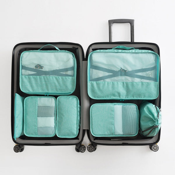Packing Cube Luggage Travel Organizer Green