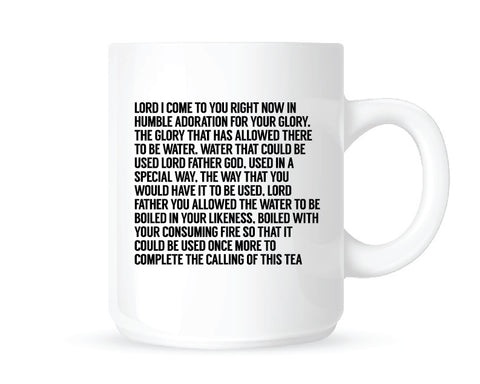 Super Deep Tea Prayer Mug
