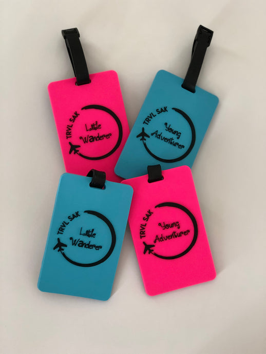 Little Wanderer and Young Adventurer Luggage Tags.
