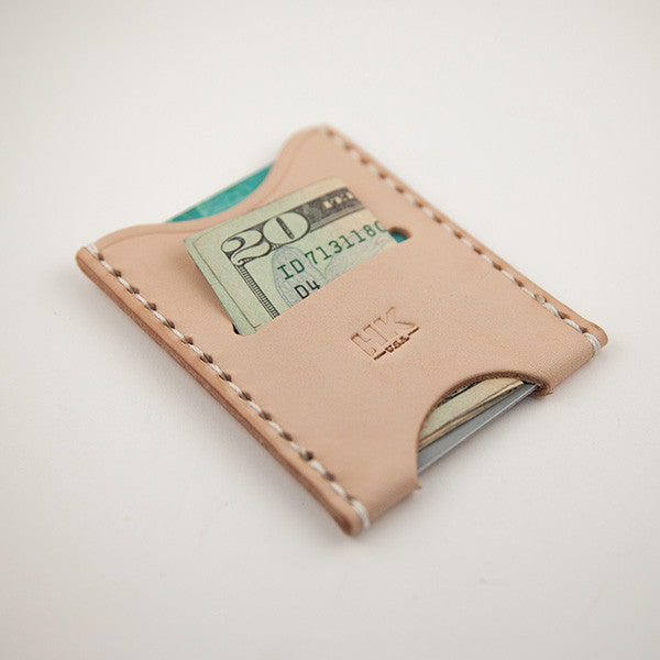 Slim Card Wallet, Natural