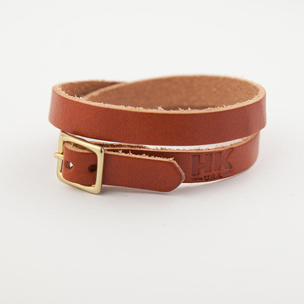 Double-Wrap Bracelet, Chestnut