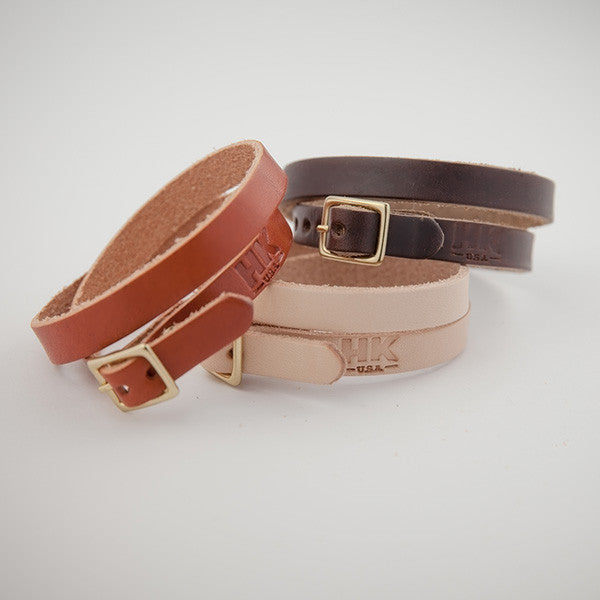 Double-Wrap Bracelet, Brown Chromexcel