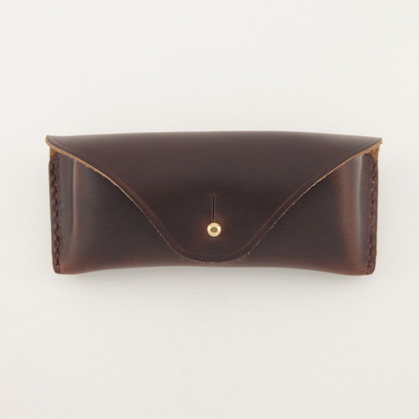 Eyeglass Case, Brown Chromexcel