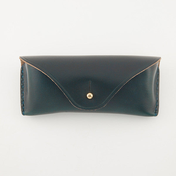 Eyeglass Case, Navy Chromexcel