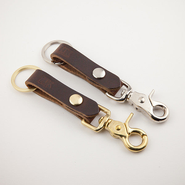 Key Carry Lanyard, Brown Chromexcel