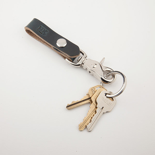 Key Carry Lanyard, Navy Chromexcel