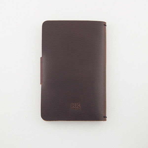 Pocket Notebook Cover, Brown Chromexcel