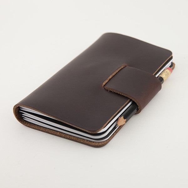 Pocket Notebook Cover, Navy Chromexcel