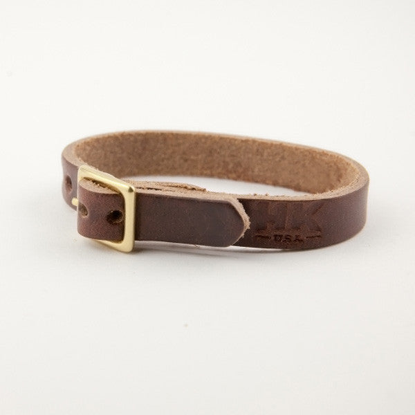 Single-Wrap Bracelet, Brown Chromexcel
