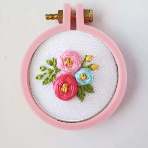 Pink Hoop Floral Necklace