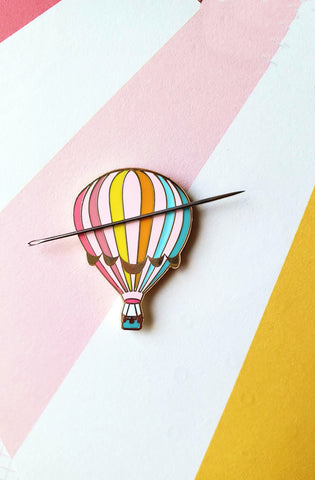RESERVED for Amy! Hot Air Balloon Needle Minder