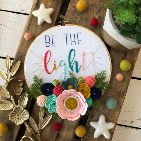 Be The Light collaboration hoop art