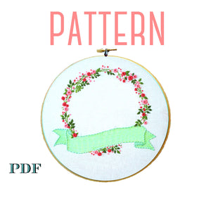 Customizable Floral Embroidery Pattern