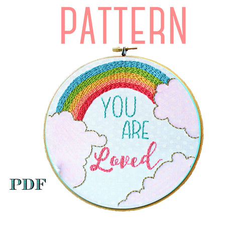 You Are Loved Embroidery Pattern