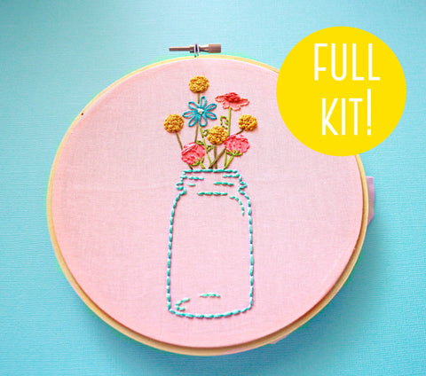 Embroidery Kit- The Mason Jar