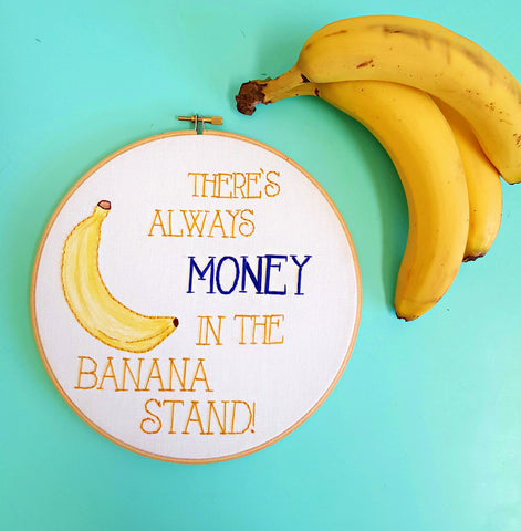 Arrested Development Cross Stitch,Bluth Banana Stand