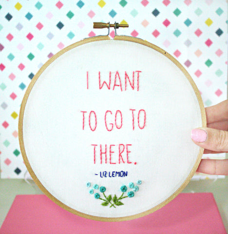 I Want To Go To There,Embroidery Hoop Art