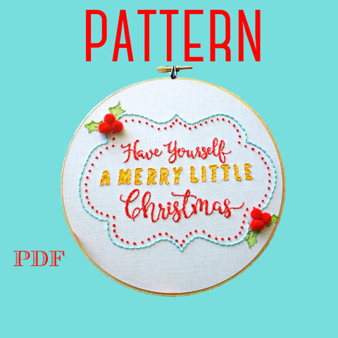 Christmas Embroidery Pattern,Instant Download PDF